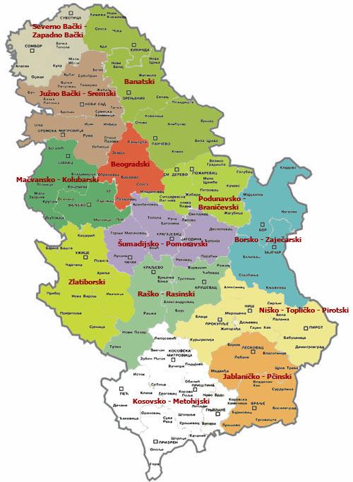 Auto Karta Srbije I Crne Gore